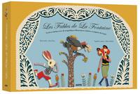 LES FABLES DE LA FONTAINE (NOUVELLE EDITION) - UN LIVRE-THEATRE AVEC DE MAGNIFIQUES ILLUSTRATIONS RE