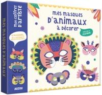 MES MASQUES D'ANIMAUX A DECORER - AVEC DE LA FEUTRINE