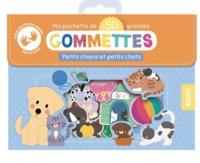 MA POCHETTE DE 50 GRANDES GOMMETTES - PETITS CHIENS ET PETITS CHATS