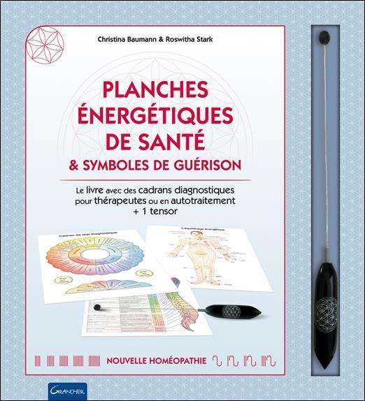 PLANCHES ENERGETIQUES DE SANTE & SYMBOLES DE GUERISON - COFFRET - LE LIVRE AVEC DES CADRANS DIAGNOST