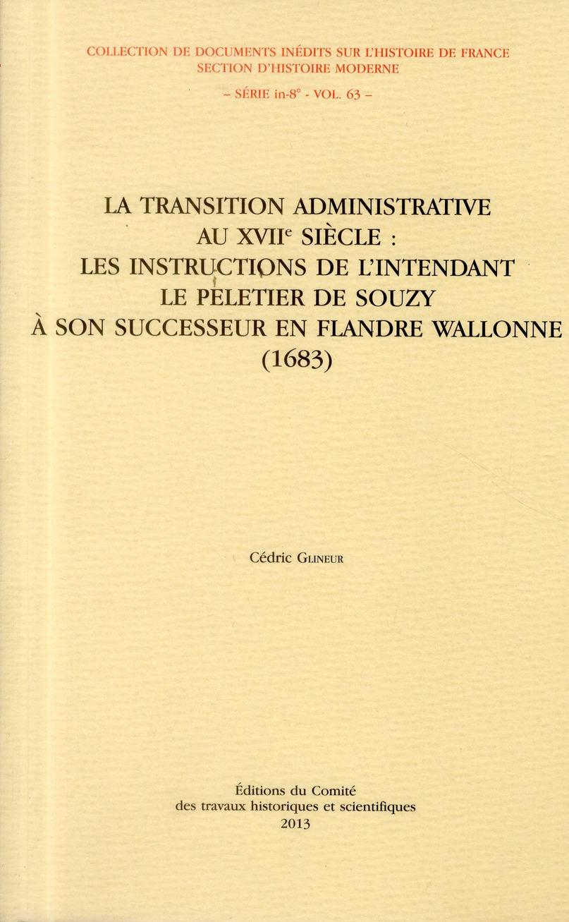 TRANSITION ADMINISTRATIVE AU 17EME SIECLE