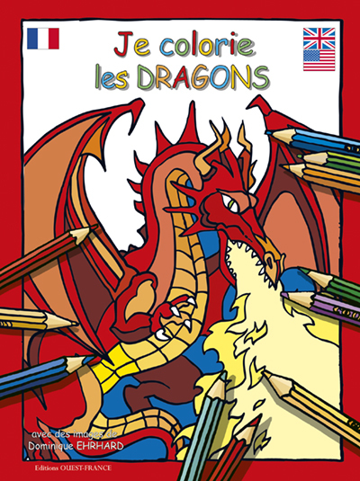 JE COLORIE LES DRAGONS (CS7326)