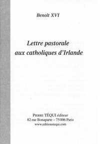LETTRE PASTORALE AUX CATHOLIQUES D'IRLANDE