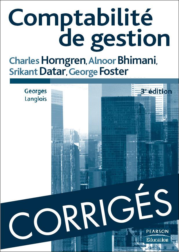 CORRIGES COMPTABILITE DE GESTION 3E ED.