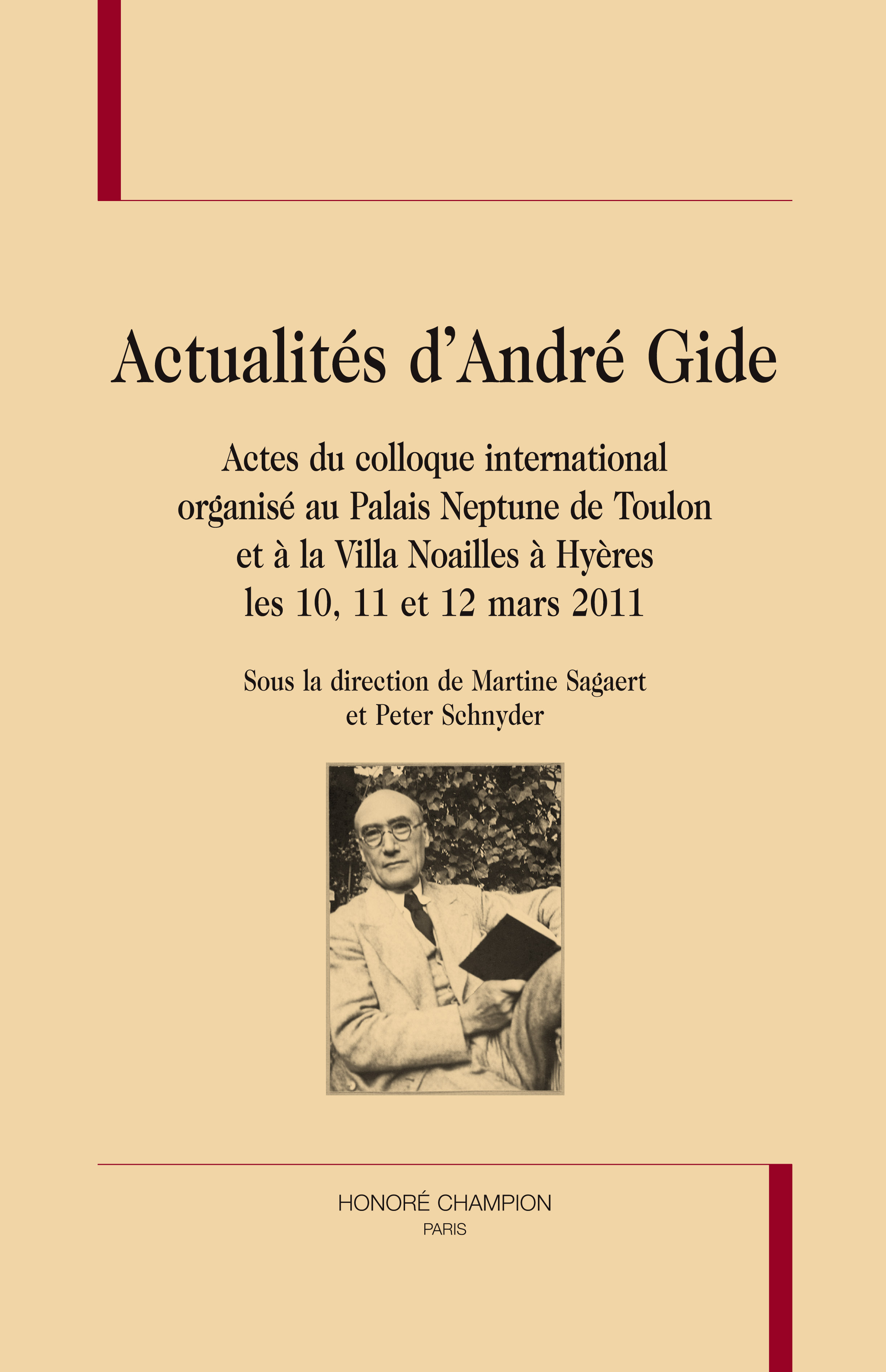ACTUALITES D'ANDRE GIDE