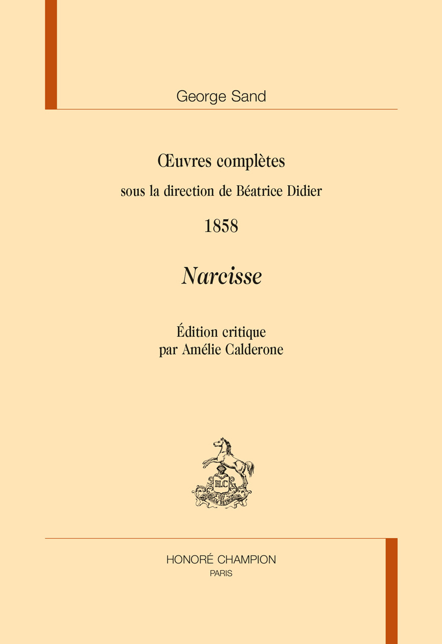 NARCISSE. OEUVRES COMPLETES. 1858