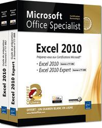 EXCEL 2010 - COFFRET DE 2 LIVRES - PREPAREZ-VOUS A LA CERTIFICATION MICROSOFT  EXCEL 2010 (77-882) E