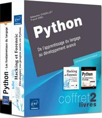 PYTHON, COFFRET 2 LIVRES : DE L'APPRENTISSAGE DU LANGAGE AU DEVELOPPEMENT AVANCE