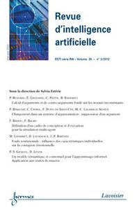 REVUE D'INTELLIGENCE ARTIFICIELLE RSTI SERIE RIA VOLUME 26 N. 3/MAI-JUIN 2012