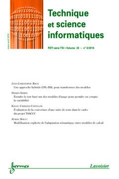 TECHNIQUE ET SCIENCE INFORMATIQUES RSTI SERIE TSI VOLUME 33 N. 3/MARS-AVRIL 2014