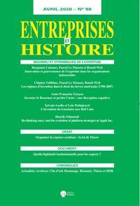 INCONNU ET DYNAMIQUES DE L'EXPERTISE-EH 98-AVRIL 2020 - ENTREPRISES & HISTOIRE 98-AVRIL 2020-INCONNU