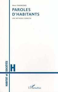 PAROLES D'HABITANTS - UNE METHODE D'ANALYSE