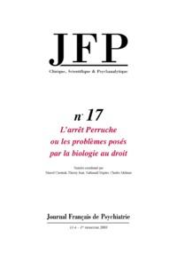 JFP 17 - ARRET PERRUCHE OU LES PROBLEMES POSES PAR LA BIOLOGIE