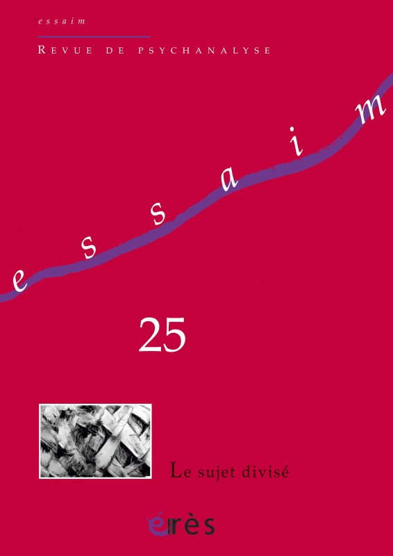 ESSAIM 25 - LE SUJET DIVISE