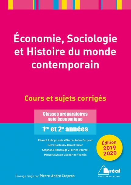 ECONOMIE, SOCIOLOGIE ET HISTOIRE DU MONDE CONTEMPORAIN - 2019-2020