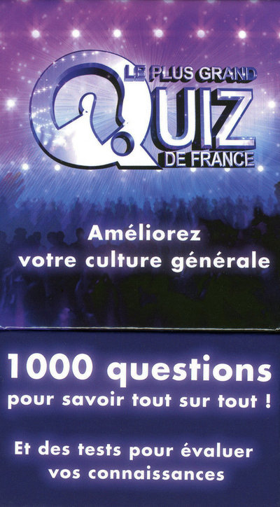 BOITE PLUS GRAND QUIZ FRANCE
