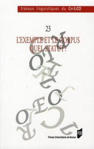 EXEMPLE ET LE CORPUS QUEL STATUT