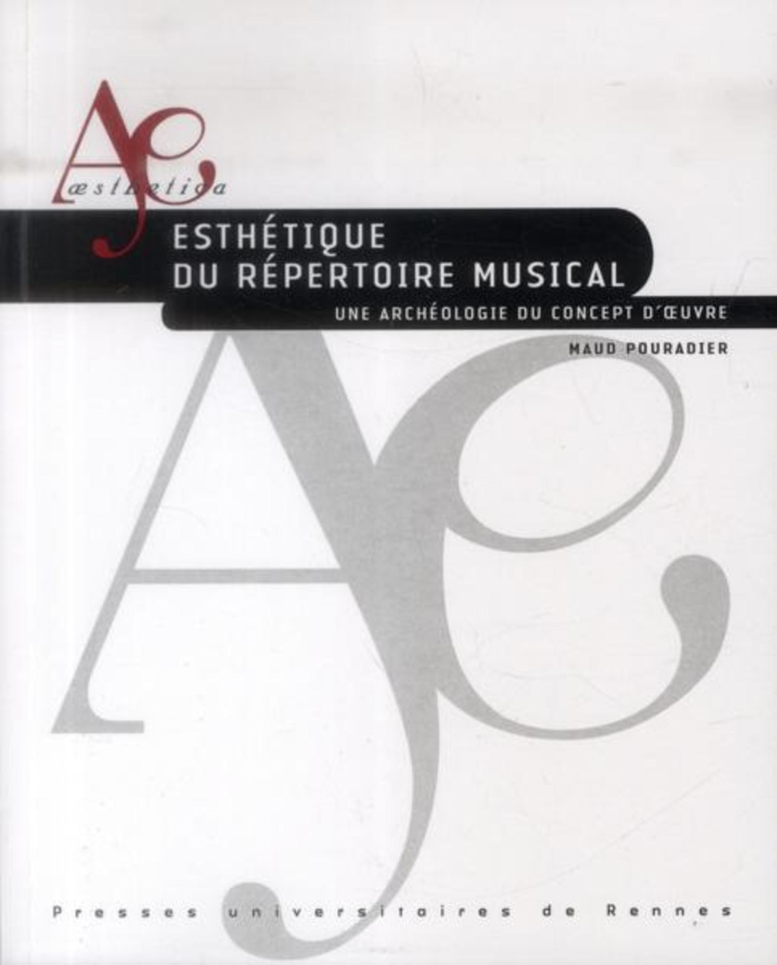 ESTHETIQUE DU REPERTOIRE MUSICAL