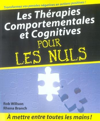 LES THERAPIES COMPORTEMENTALES ET COGNITIVES POUR LES NULS