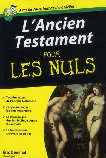 ANCIEN TESTAMENT POCHE POUR LES NULS
