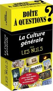 BOITE A QUESTIONS - LA CULTURE GENERALE POUR LES NULS