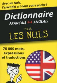 MINI-DICTIONNAIRE ANGLAIS-FRANCAIS FRANCAIS-ANGLAIS POUR LES NULS
