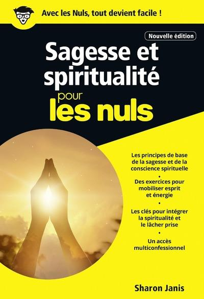 SAGESSE ET SPIRITUALITE POCHE POUR LES NULS