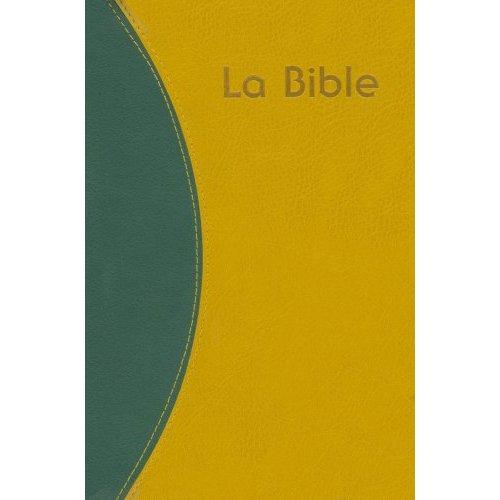 BSC BIBLE DU SEMEUR, PU, VERT-OCRE, FERMETURE ECLAIR ROUGE