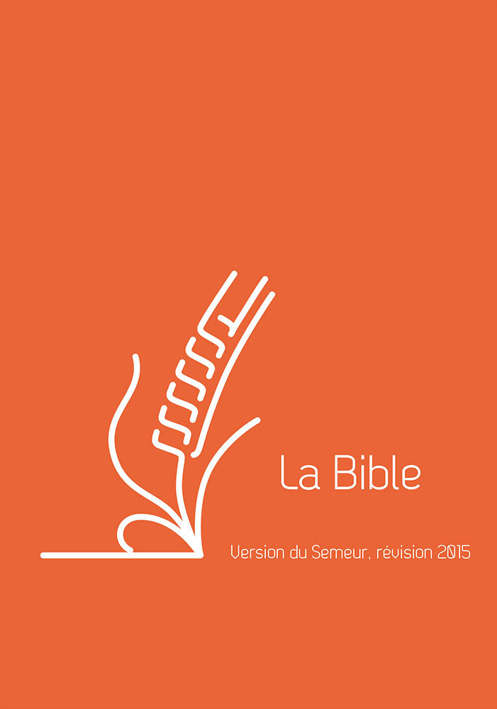 BIBLE DU SEMEUR 2015, LIN ORANGE, AVEC TRANCHE BLANCHE