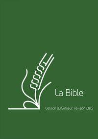 BIBLE DU SEMEUR 2015, LIN VERTE, AVEC TRANCHE BLANCHE