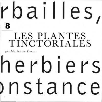 LES PLANTES TINCTORIALES