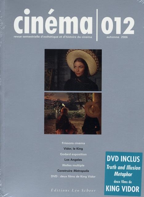 CINEMA 012 - REVUE SEMESTRIELLE D'ESTHETIQUE ET D'HISTOIRE DU CINEMA