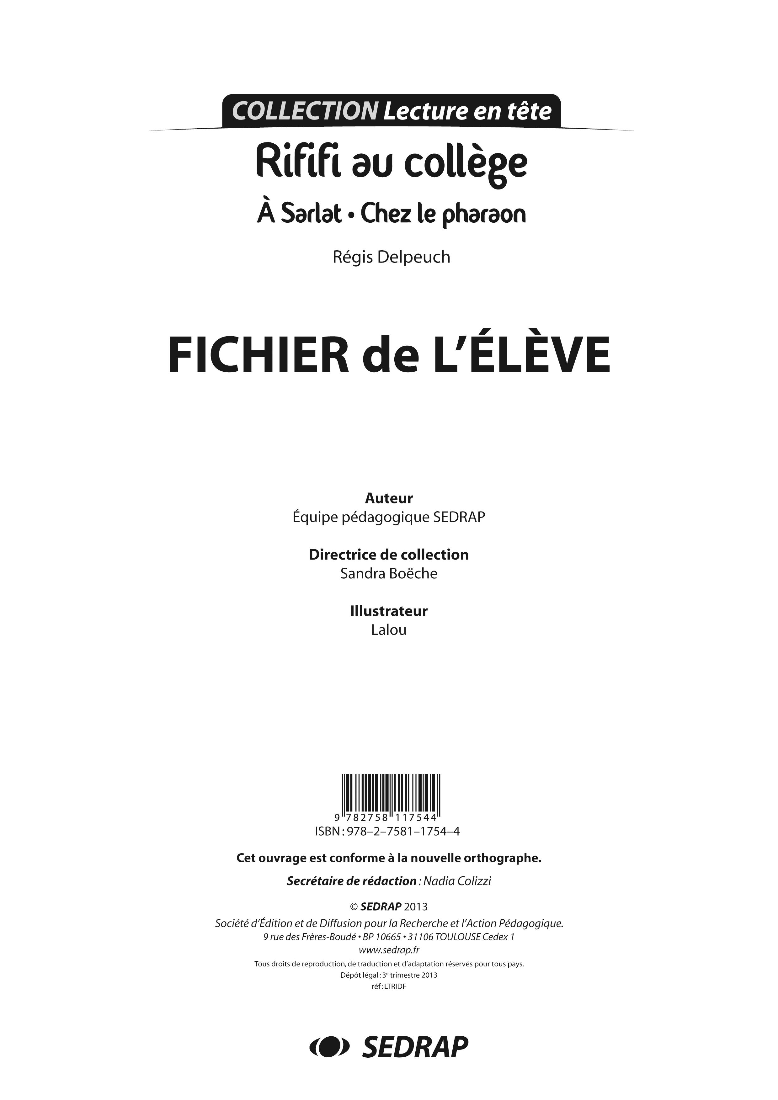 RIFIFI L'INTEGRALE - FICHIER