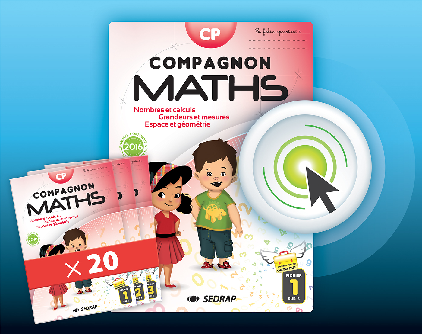 COMPAGNON MATHS CP - LOT 20 FICHIERS + INTERACTIF