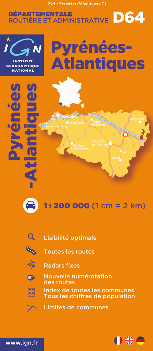 AED PYRENEES-ATLANTIQUES  1/200.000