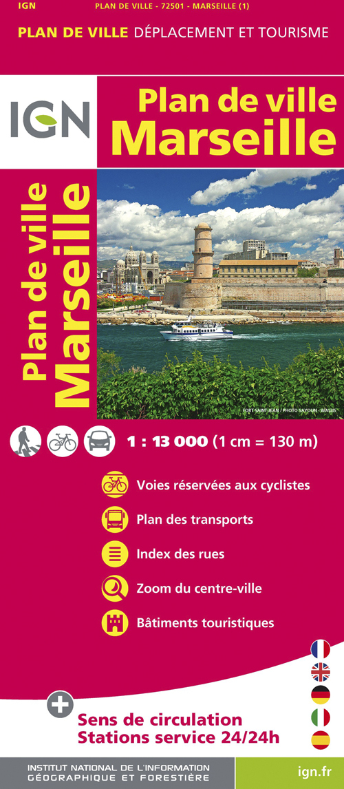 72501 PLAN DE MARSEILLE  1/13.000
