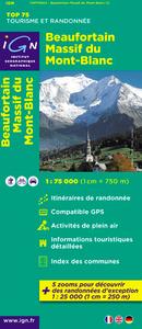 AED BEAUFORTAIN/MASSIF MT BLANC 1/75.000