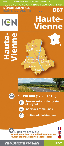 AED D87 HAUTE-VIENNE  1/150.000