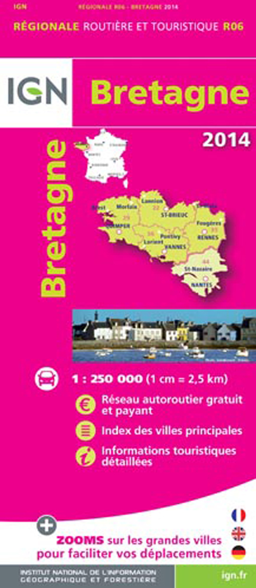 AED BRETAGNE 2014  1/250.000