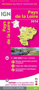 AED PAYS DE LA LOIRE 2014  1/250.000