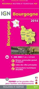 AED BOURGOGNE 2014  1/250.000