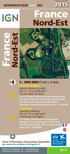 AED OACI942 FRANCE NORD-EST 2015  1/500.000