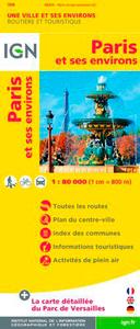 88408 PARIS ET SES ENVIRONS  1/80.000