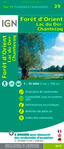 TOP75039 FORET D'ORIENT/LAC DU DER 1/75.000