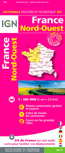 AED 1M801 FRANCE NORD-OUEST 2018 (1 : 320 000)