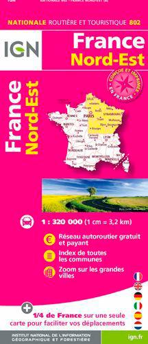 802 FRANCE NORD-EST RECTO/VERSO
