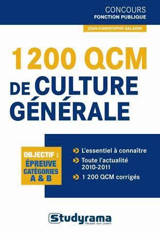 1200 QCM DE CULTURE GENERALE A/B