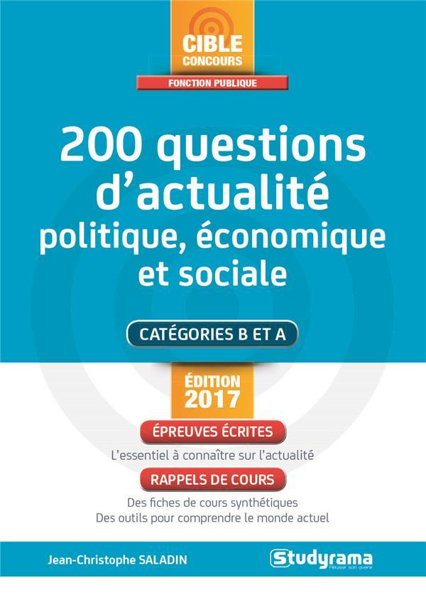 200 QUESTIONS D'ACTUALITE POLITIQUE, ECONOMIQUE ET SOCIALE