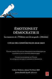 EMOTIONS ET DEMOCRATIE II