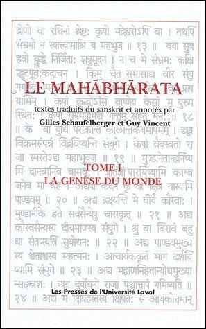 LE MAHABHARATA V 01 LA GENESE DU MONDE